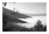 Ground fog above Norcia