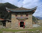 Prayer wheel house