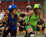 Roller Derby, Disloyalists vs Breakwall Bombshells 07-19-14