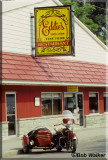 Indian Motorcycle In Front Of Eddies On Oneida Lake