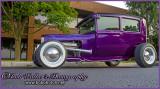 Purple Ford Street Rod