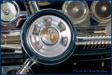 Edsel Steering Wheel's Unique  Autmatic Shift Close Up