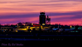 Another View Of Hancock International Airport At Sunset
