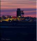 Syracuse, New York's Hancock International  Airport At Twilight