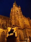 St. Vitus Cathedral and statue of St. George ...