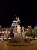 Wenceslas Square and the statue of St. Wenceslas ...