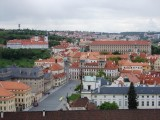 View of Prague from tower of St Vitus Cathedral ..