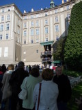 Many people in the exhibition of the Crown Jewels ..