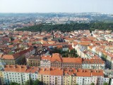 View of Prague from the tower ..
