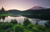 Mt Rainier at Reflection Lake
