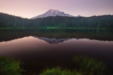 Mt Rainier at dusk