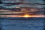 Sunset on the tundra.
