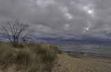 Stormy weather forecast on Lake Huron.
