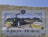Logansport, IN Iron Horse mural (Circa 2004)