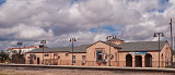 The Alpine Texas Train Depot from trackside