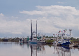 Shrimp boats on the bayou near Holly Beach, LA