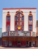 This fine example of an Art Deco theatre was found in Pensacola, FL