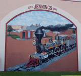 This mural and the next four were found in Jennings, LA