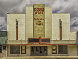 This fine Art Deco style theater can be found in George West,  Texas