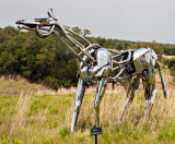 The steel horse sculpture, titled  Hi-Ho.