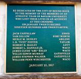 The Mays street bridge dedication plaque