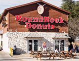The world famous Round Rock Donut Building