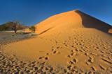 Sunrise and Footprints on Dune 45