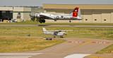 Landing and take off.