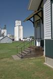 Ellsworth, KS grain elevator & Terra Cotta, KS old UP depot.