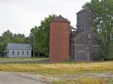 Burdick, KS old grain elevator.