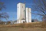Peabody, KS concrete grain elevator.