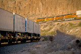 Two trains at the same time. Kingman Canyon, AZ.