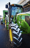 New JD tractor and baler-National Western Stock Show.