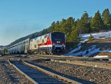 Amtrak ski train through Plainview, CO.