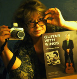 Nancy with Laurence Juber's new book