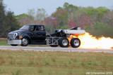 Jet Truck on fire