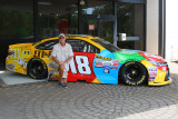 Bill Scheuerman with M&M car