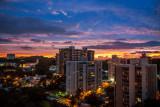 Sunset preceding a storm