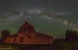Milky Way over Moulton Barns