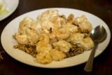 Vanilla Prawns served with Honey Glazed Walnuts