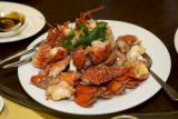 Twin Lobsters cooked in Supreme Broth
