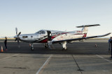 7/11/2014  Amelia Rose Earhart and the Pilatus PC-12/47E she flew around the world in