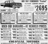 1957 Newspaper Ad