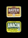 Bayer Aspirin & Anacin Tins