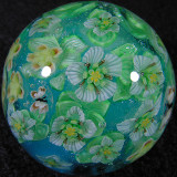 Parnassus and Hypericum Blue-Green Size: 1.36 Price: SOLD
