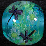 Jewelflies and Daffodils Size: 0.79 x 0.88 Price: SOLD