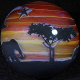 Serengeti Sunset 3 Size: 1.85 Price: SOLD