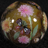 Dahlias and Butterflies