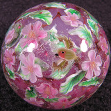 Apple Blossoms and Robins Size: 1.31 Price: SOLD