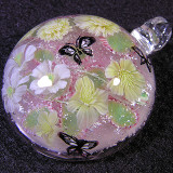Kerria 3 Ways and Butterflies Size: 1.37 Price: SOLD